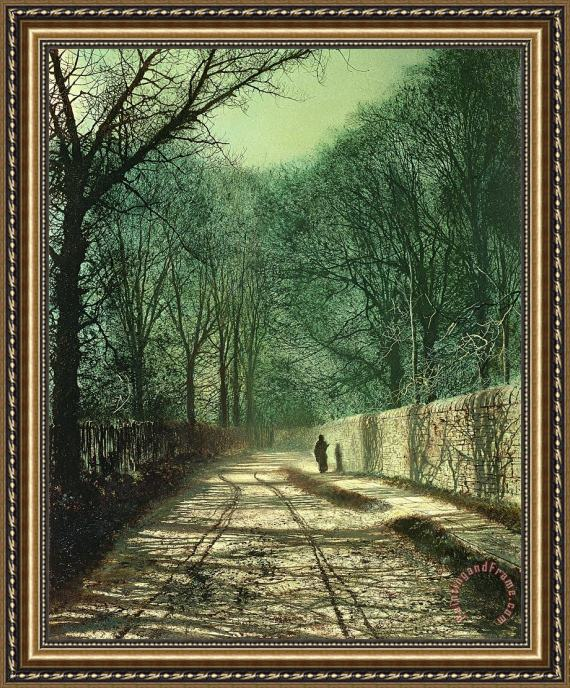 John Atkinson Grimshaw Tree Shadows in the Park Wall Framed Print