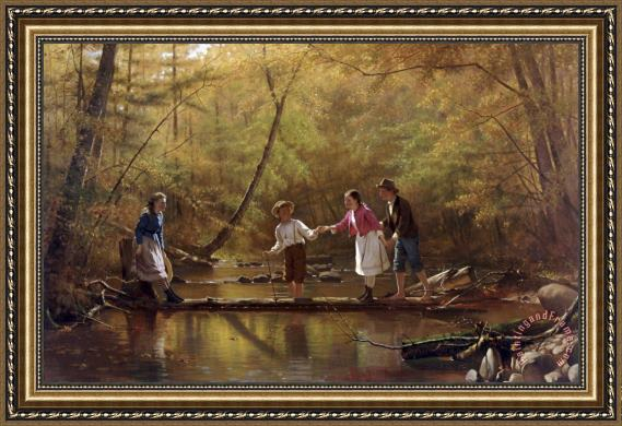 John George Brown The Country Gallants Framed Print for sale ...
