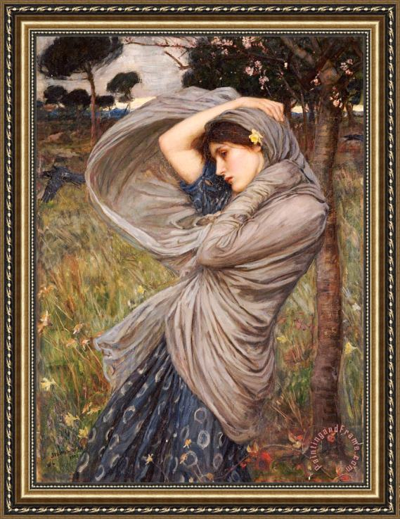 John William Waterhouse Boreas Framed Painting