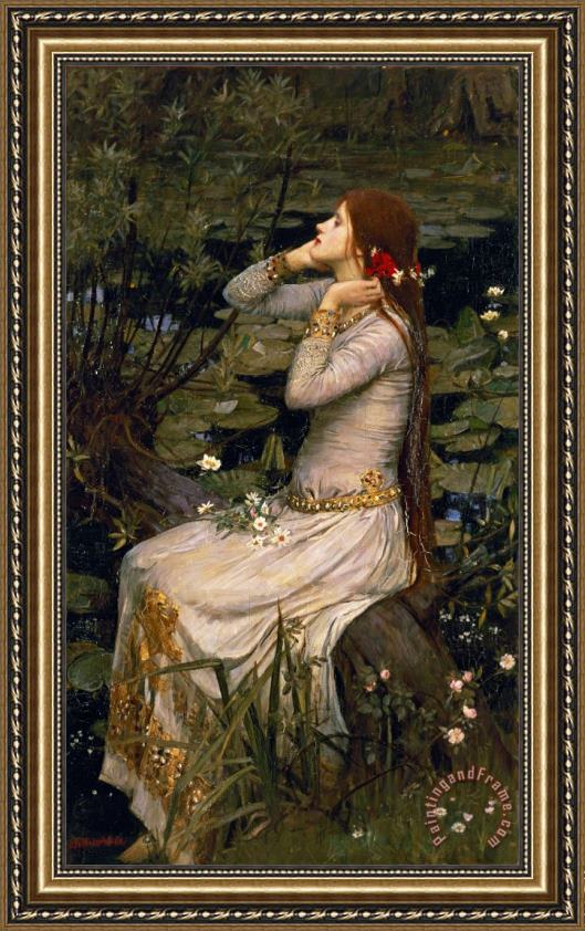John William Waterhouse Ophelia Framed Print