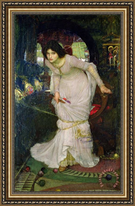 John William Waterhouse The Lady of Shalott Framed Print