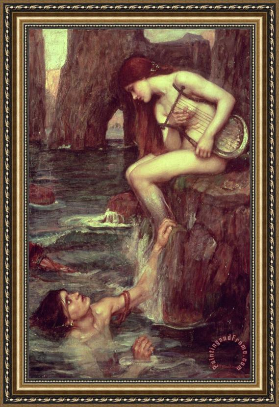 John William Waterhouse The Siren Framed Painting