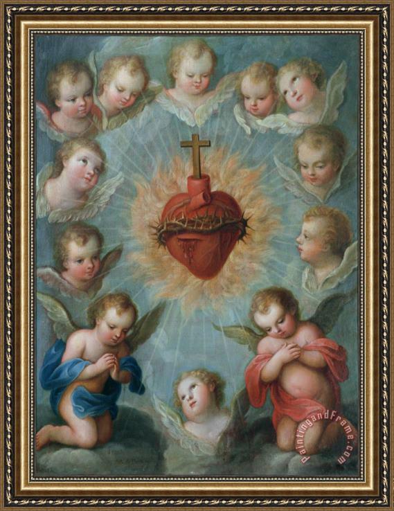 Jose De Paez Sacred Heart Of Jesus Surrounded By Angels
