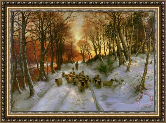 Joseph Farquharson Glowed with Tints of Evening Hours Framed Print