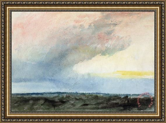 Joseph Mallord William Turner A Rainstorm at Sea Framed Print