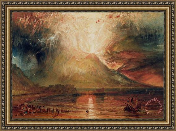 Joseph Mallord William Turner Mount Vesuvius in Eruption Framed Painting