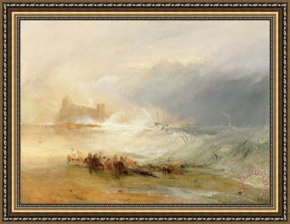 Joseph Mallord William Turner Wreckers - Coast of Northumberland Framed Print