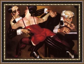Tango Framed Paintings - The Last Tango by Juarez Machado