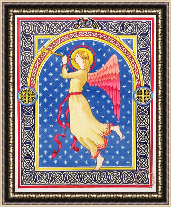 Lavinia Hamer Angel Blowing Trumper Framed Print