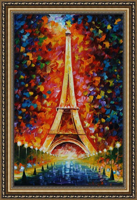 Leonid Afremov Eiffel Tower Framed Print for sale - paintingandframe.com