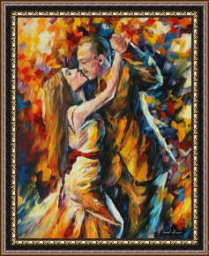 Tango Framed Paintings - Tango Of Past Years by Leonid Afremov