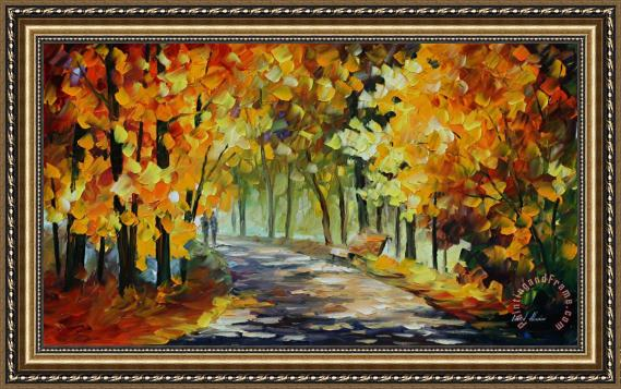 Leonid Afremov Under The Gold Arch Framed Painting