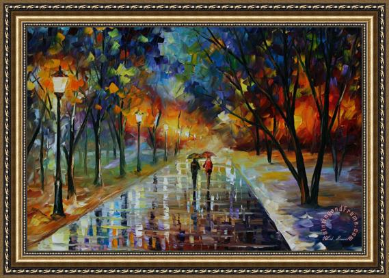 Leonid Afremov Winter Park Framed Print