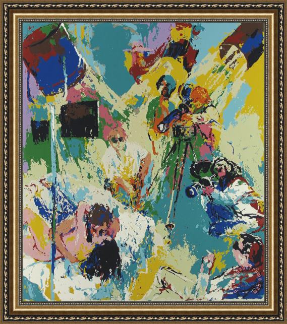Leroy Neiman X Rated Movies Framed Print