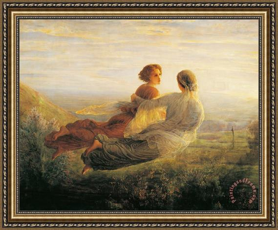 Louis Janmot The Departure Of The Soul Framed Print