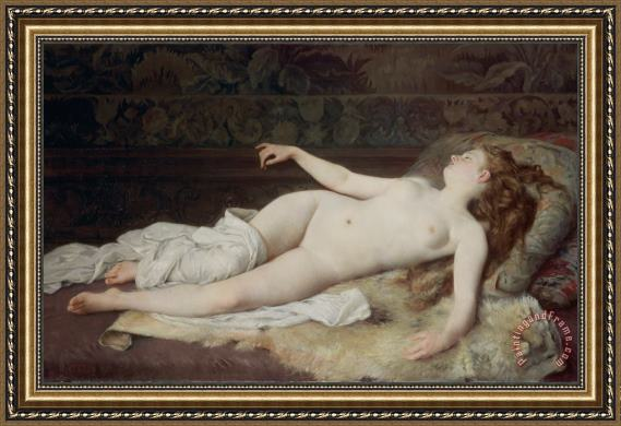 Louis Joseph Raphael Collin Sleep Framed Print