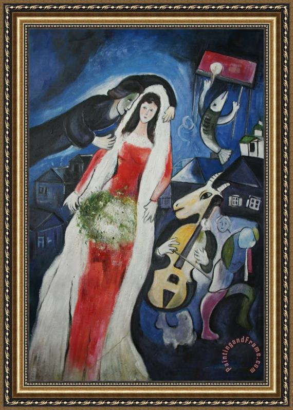Marc Chagall La Mariee Framed Print for sale - paintingandframe.com