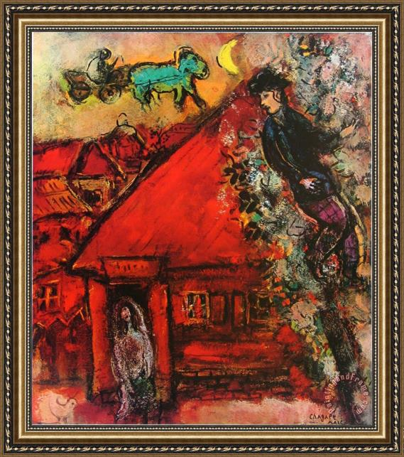 Marc Chagall The Red House Framed Print