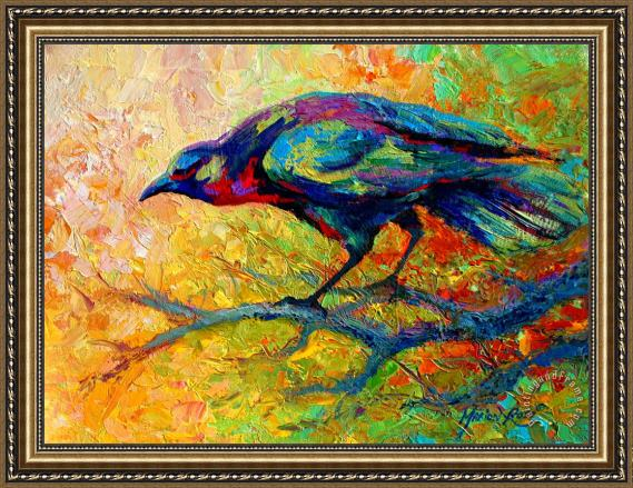Marion Rose Tree Talk - Crow Framed Painting