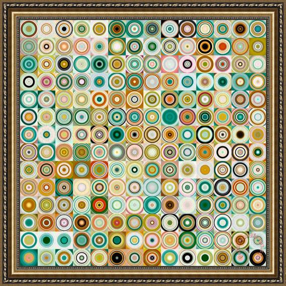 Mark Lawrence Circles And Squares 28. Modern Abstract Fine Art Framed Print