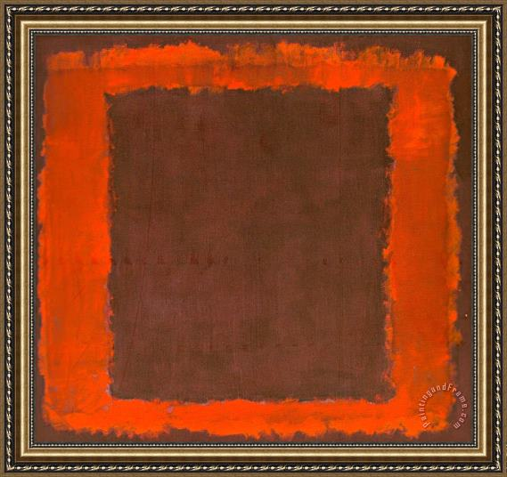 Mark Rothko Untitled Mural for End Wall Framed Painting