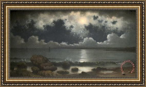Martin Johnson Heade Point Judith, Rhode Island Framed Painting for ...