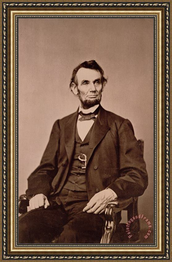 Mathew Brady Portrait of Abraham Lincoln Framed Painting