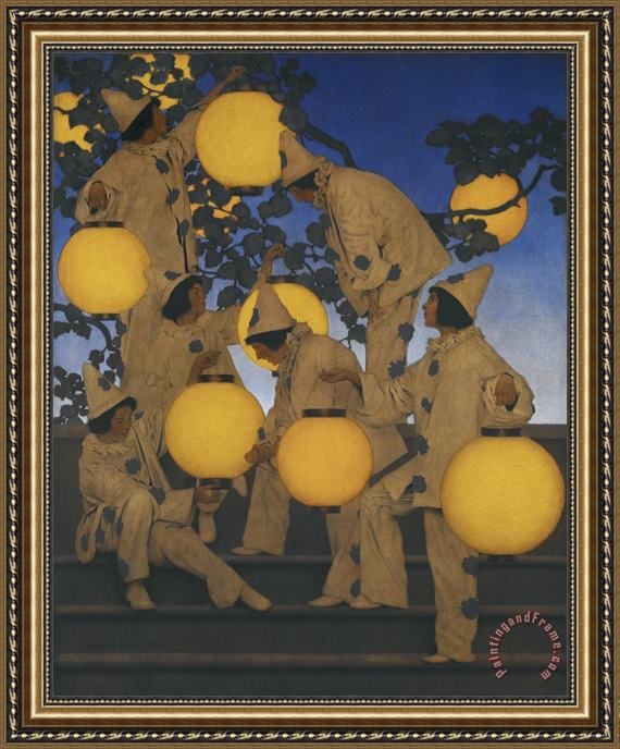 Maxfield Parrish The Lantern Bearers Framed Print For Sale