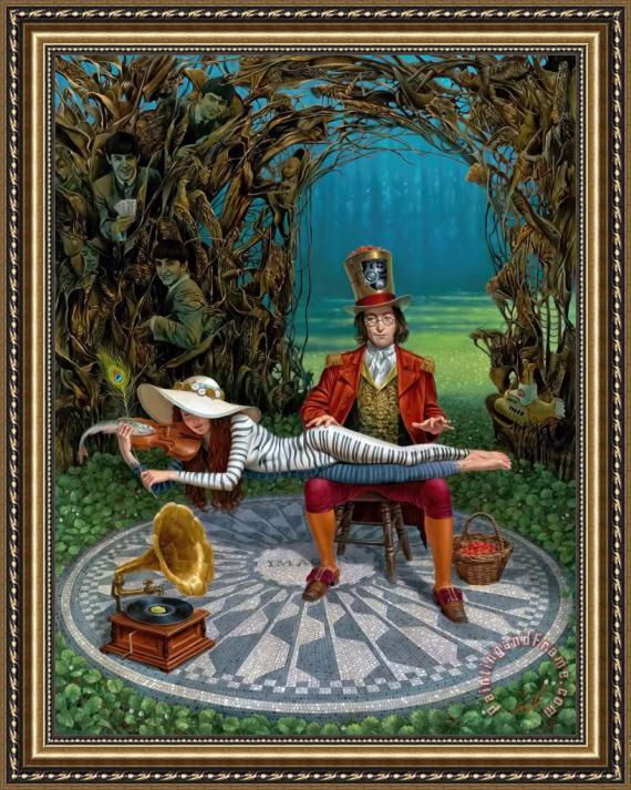 Michael Cheval Imagine Iii Framed Print For Sale
