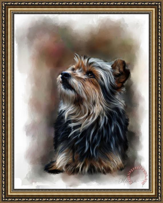 Michael Greenaway Pet Dog Portrait Framed Print