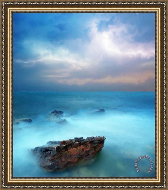 Michael Greenaway Sea Sky and Stone Framed Painting