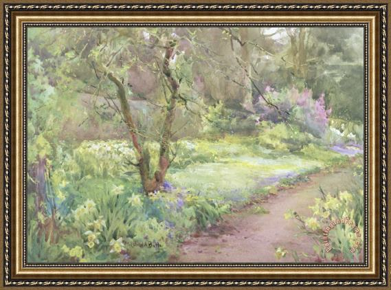 Mildred Anne Butler Garden Path Framed Painting For Sale