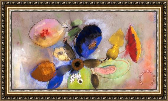 Odilon Redon Flowers Framed Print