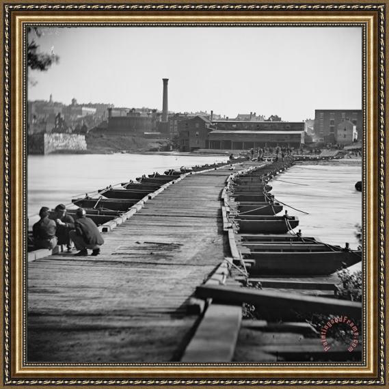 Others Civil War: Pontoon Bridge Framed Print