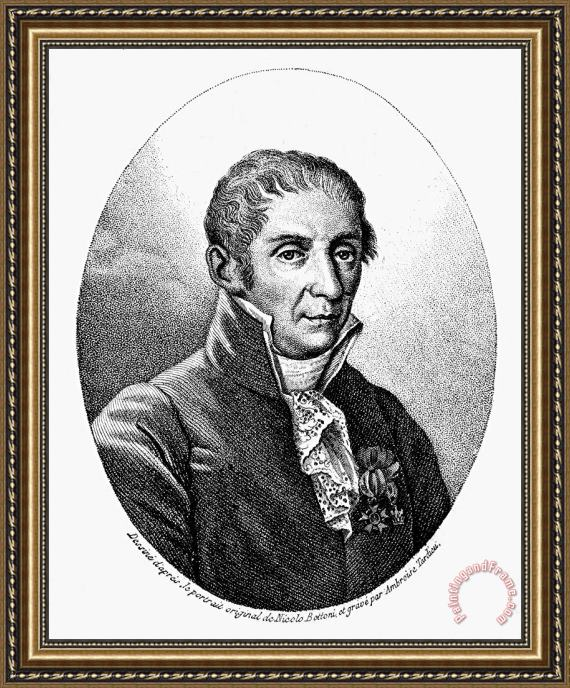Others Count Alessandro Volta Framed Print