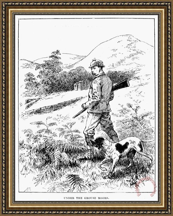 Others England: Grouse Hunting Framed Print for sale ...