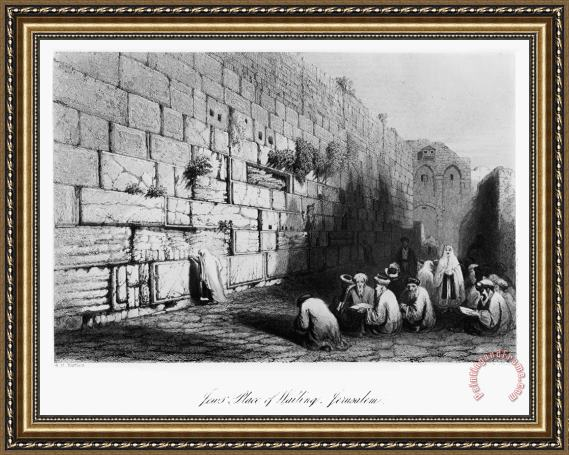 Others Jerusalem: Wailing Wall Framed Print