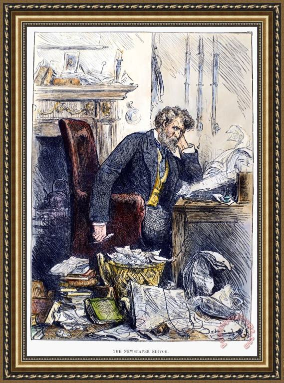 Others Newspaper Editor, 1880 Framed Print