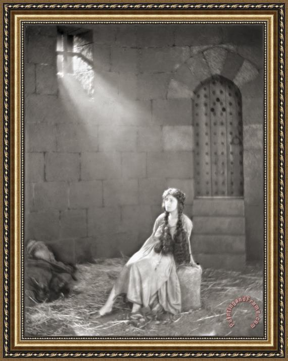 Others Silent Film Still: Woman Framed Print