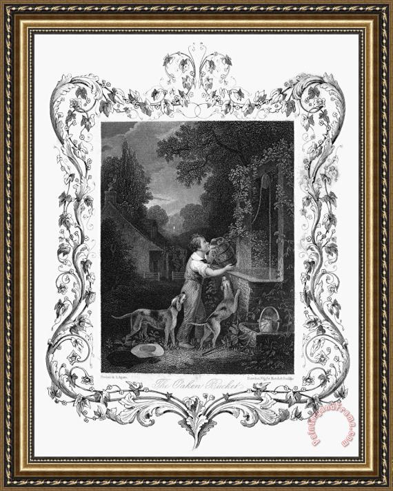 Others WELL, c1840 Framed Print