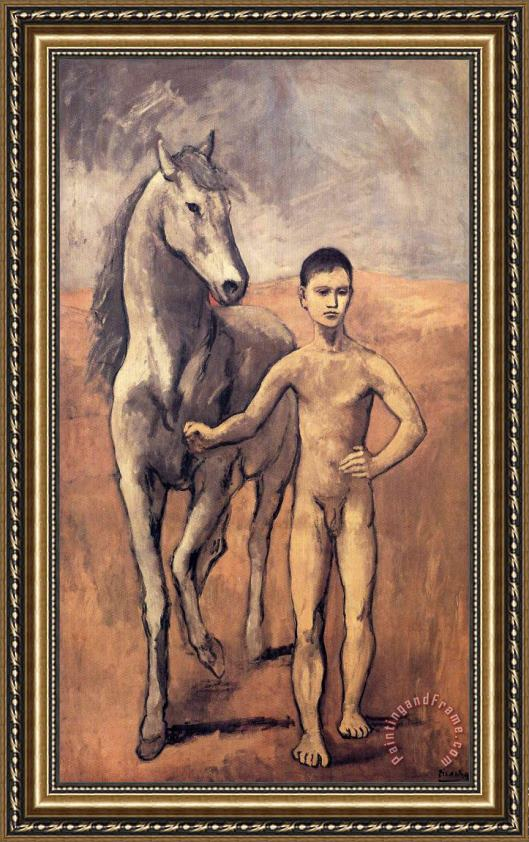 Pablo Picasso Boy Leading a Horse 1906 Framed Print for sale ...