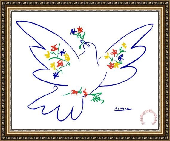 Pablo Picasso Dove of Peace Framed Print