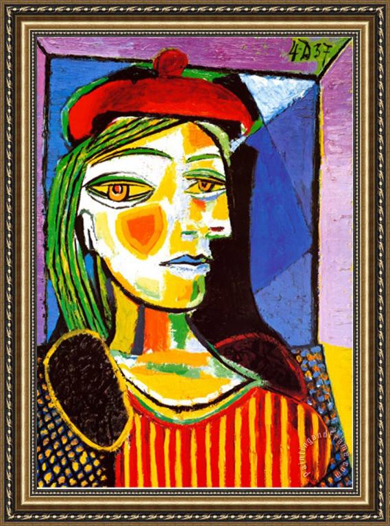 Pablo Picasso Girl with Red Beret Framed Print