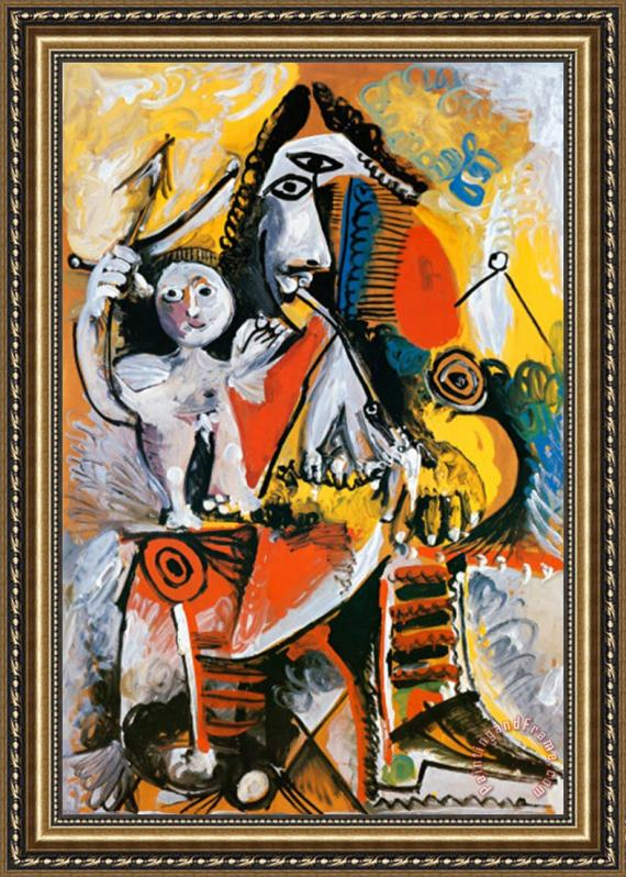 Pablo Picasso Musketeer And Cupid C 1969 Framed Print