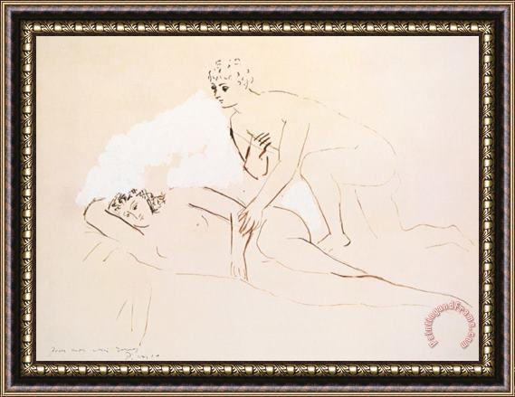Pablo Picasso The Lovers Les Amoureux Framed Print