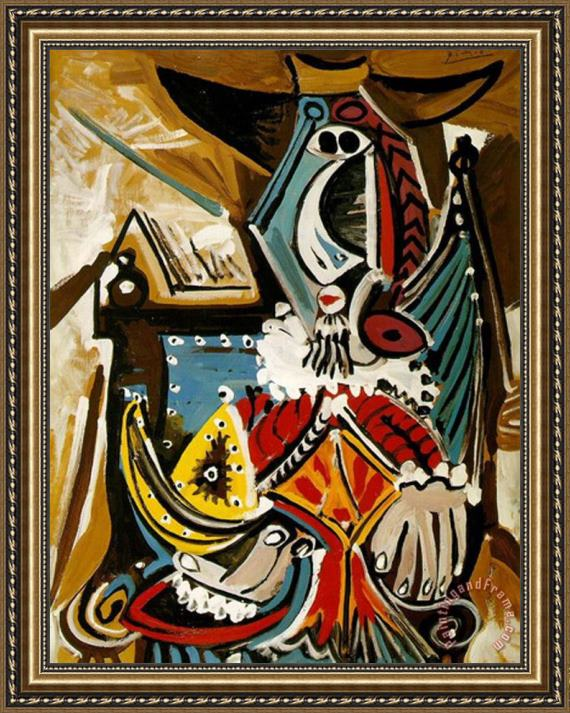 Pablo Picasso The Man in The Golden Helmet Framed Painting