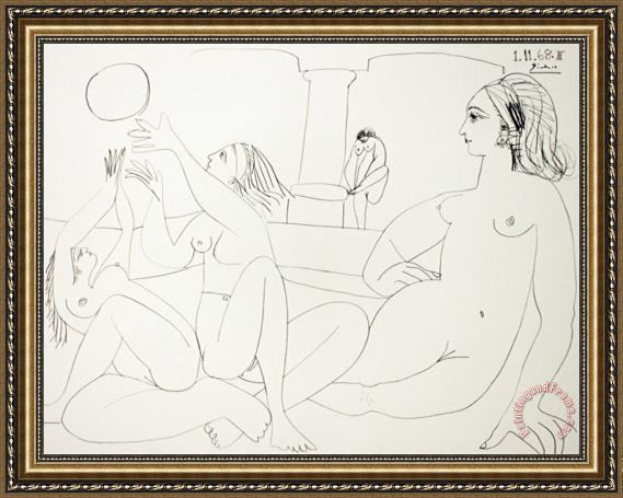 Pablo Picasso The Turkish Bath Framed Print