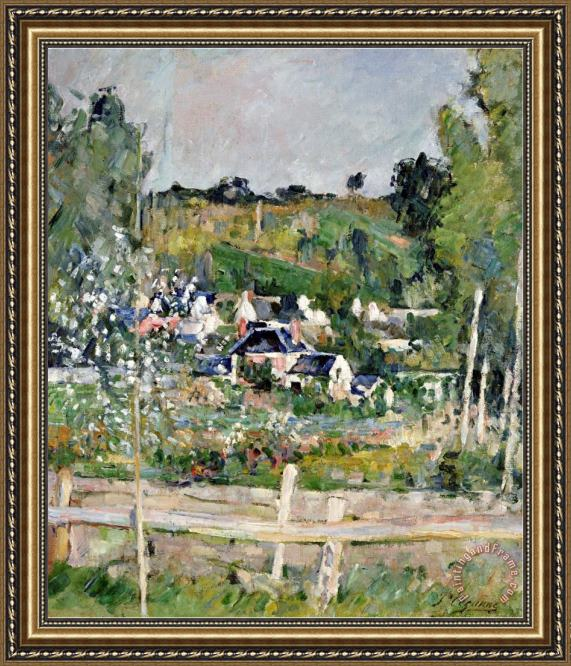 Paul Cezanne A View of Auvers Sur Oise The Fence Framed Print