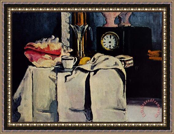 Paul Cezanne Black Marble Clock Framed Painting For Sale Paintingandframe Com