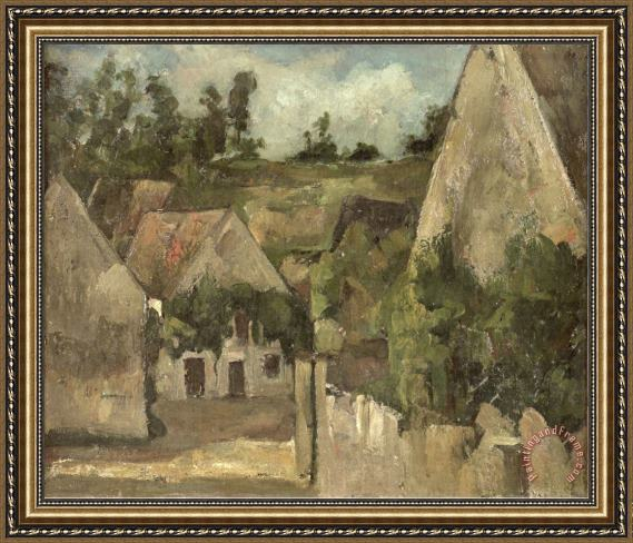 Paul Cezanne Crossroads at The Rue Remy Auvers C 1872 Framed Print
